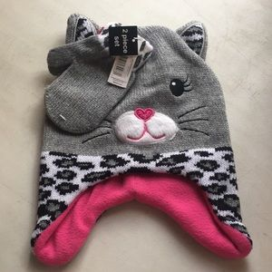 Toddler 2T-5T Glove And Hat Set